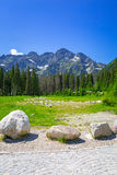 Beautiful scenery in Tatra mountains, Poland Stock Images