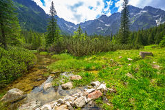 Beautiful scenery in Tatra mountains, Poland Royalty Free Stock Images