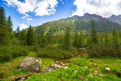 Beautiful scenery in Tatra mountains, Poland Royalty Free Stock Image
