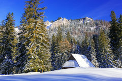 Beautiful scenery of Tatra mountains at snowy winter Stock Photo