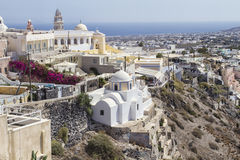 Beautiful scenery of Thira Royalty Free Stock Photo