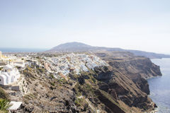 Beautiful scenery of Thira Stock Image