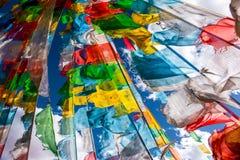 The Beautiful Scenery: Tibetan prayer flags royalty free stock photography