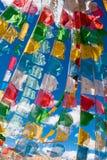 The Beautiful Scenery: Tibetan prayer flags royalty free stock photos