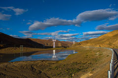 The Beautiful Scenery: Travelling in Tibet Royalty Free Stock Image