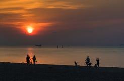 Beautiful scenery of tropical sunrise Royalty Free Stock Photos