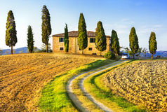 Beautiful scenery of Tuscany Stock Photo
