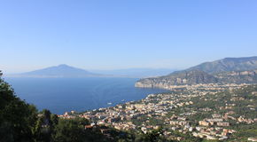 Beautiful scenery with views of Mount Vesuvius and the Tyrrhenian Sea. Italy. Beautiful scenery with views of Mount Vesuvius and the Tyrrhenian Sea. Italy stock photography