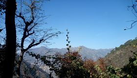 Beautiful Scenery from village of Tehri Garhwal royalty free stock photo