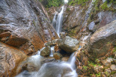 Beautiful scenery of waterfall at Gunung Pulai, Johor, Malaysia Royalty Free Stock Photography