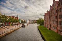 Beautiful scenery and waterways in Lubeck, Germany Stock Photography