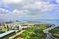 The beautiful scenery of the west coast of Haikou Stock Image
