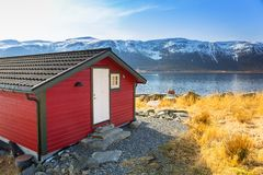 Beautiful scenery of west coastline. With fiords in Norway royalty free stock photos