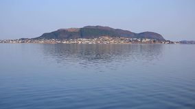 West coastline of Norway. Beautiful scenery of west coastline in Norway stock video footage