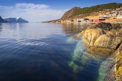 Beautiful scenery of west coastline. Beautiful scenery of west Norway coastline royalty free stock photos