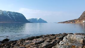 Beautiful scenery of west coastline in Norway stock video