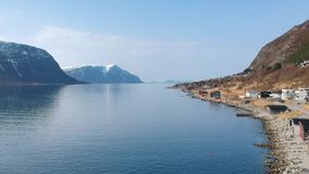 Beautiful scenery of west Norway stock video footage