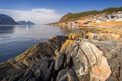 Beautiful scenery of west coastline. Beautiful scenery of west Norway coastline royalty free stock photo