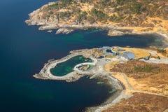 Beautiful scenery of west Norway. Coastline Stock Photography