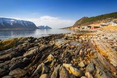 Beautiful scenery of west coastline. Beautiful scenery of west Norway coastline stock photo