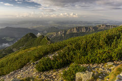 Beautiful scenery of Western Tatra mountains Royalty Free Stock Photography