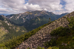 Beautiful scenery of Western Tatra mountains Royalty Free Stock Images