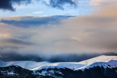 Beautiful scenery winter snow covered mountain Royalty Free Stock Photography