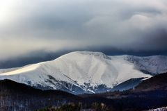 Beautiful scenery winter snow covered mountain Royalty Free Stock Images