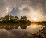 Beautiful Scenery With Sunset Reflection Royalty Free Stock Photo
