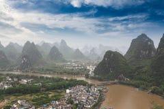 Beautiful scenery of yangshuo. Karst mountain landscape,China Royalty Free Stock Photos