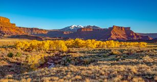 Beautiful Scenes from Fall Castle Valley, UT stock photo