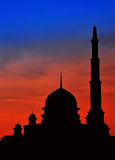 Beautiful sceney mosque Stock Image