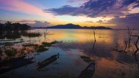 Beautiful scenic of Bangpra reservoir dusky time in chonburi eas Stock Images