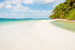 Beautiful scenic beach from island of Phang nga bay Stock Photo