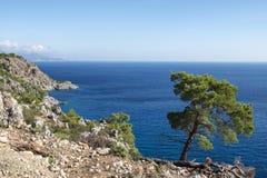 Beautiful scenic coastline on Karpathos island Stock Photography