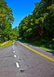 Beautiful scenic country road curves through Shenandoah  Nationa Stock Image