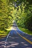 Beautiful scenic country road curves through Shenandoah  Nationa Stock Photo