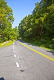 Beautiful scenic country road curves through Shenandoah  Nationa Royalty Free Stock Photos