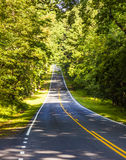 Beautiful scenic country road through Shenandoah Nationalpark in Virginia Stock Images