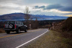 Beautiful scenic of country road in south island new zealand Stock Photography