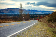 Beautiful scenic of country road in south island new zealand Royalty Free Stock Photography