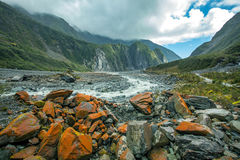 Beautiful scenic of fox glacier important traveling destination Stock Image