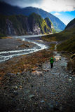 Beautiful scenic of fox glacier important traveling destination Royalty Free Stock Photos