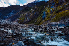 Beautiful scenic of franz josef glacier most popular traveling d. Estination in south island new zealand stock image