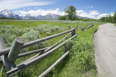 Beautiful scenic in the Grand Tetons. Royalty Free Stock Photo