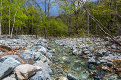 Beautiful scenic at Kamikochi Royalty Free Stock Photography