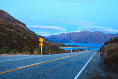 Beautiful scenic of lake hawea in south island new zealand once Stock Photography