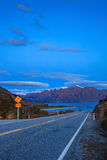 Beautiful scenic of lake hawea in south island new zealand once Stock Images