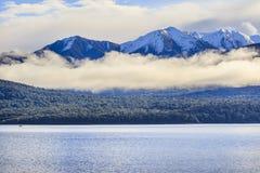 Beautiful scenic of lake te anau most popular traveling destinat Royalty Free Stock Photo
