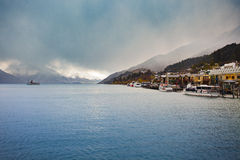 Beautiful scenic of lake wakatipu queenstown south island new ze Royalty Free Stock Image